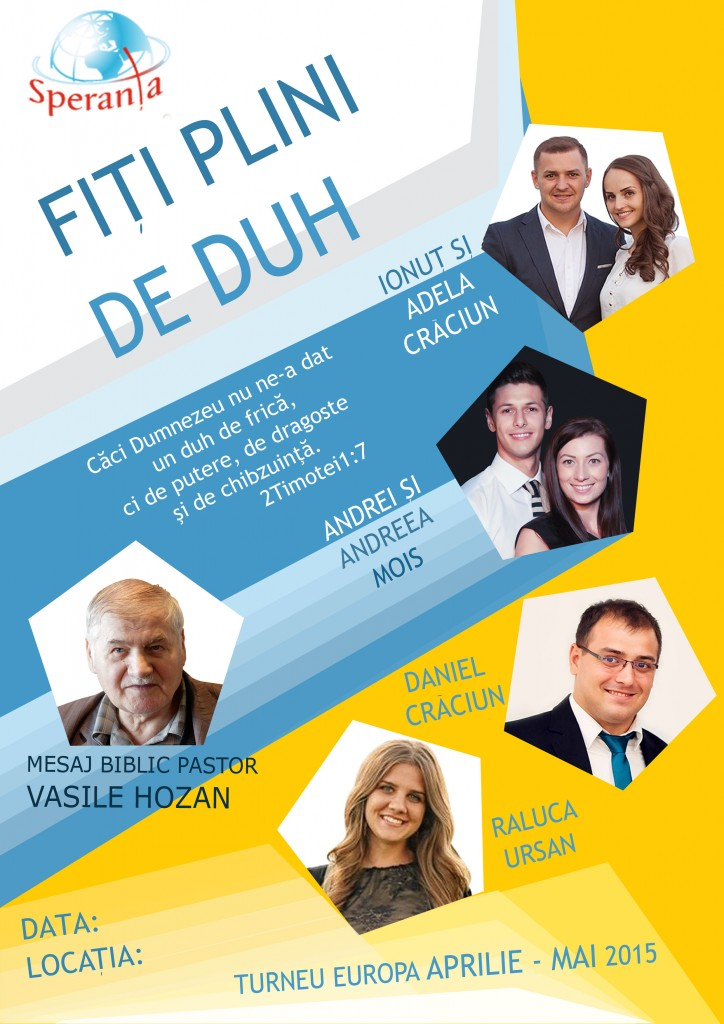 Speranta - Turneu Europa Aprilie - Mai 2015